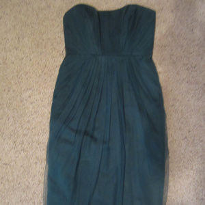 NWT WHITE BY VERA WANG SZ 2 STRAPLESS GREEN DRESS